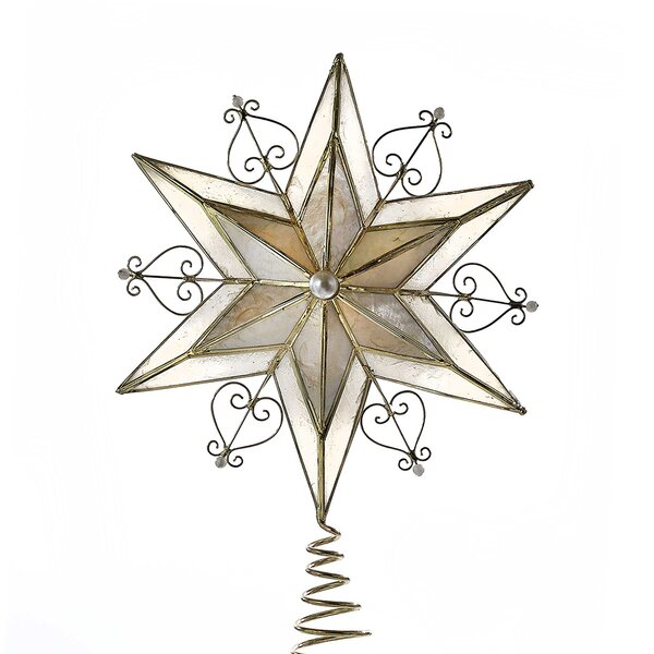 Capiz Scroll Star Tree Topper by Kurt Adler