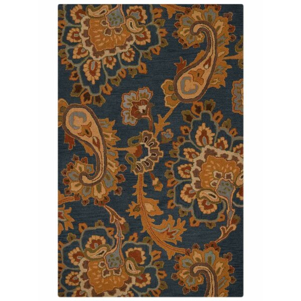 Ailsa Hand-Tufted Wool Blue/Brown Area Rug by Alcott Hill