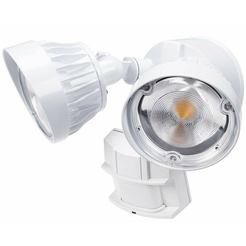 Double-end Waterproof Garage Spot Light Solar Motion Sensor 22 LED Floodlight