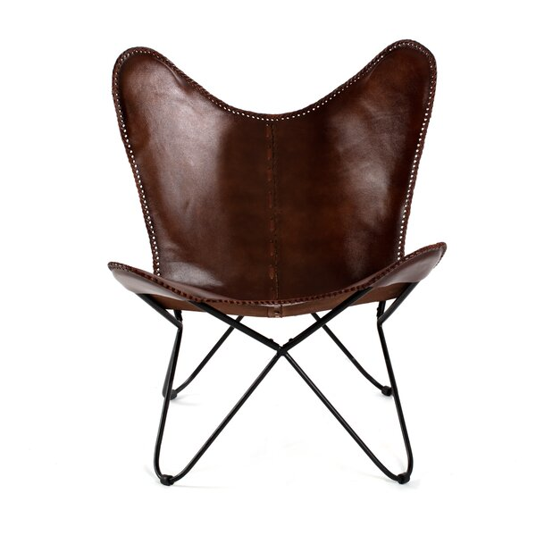 Candide Iron Butterfly Lounge Chair by Williston Forge