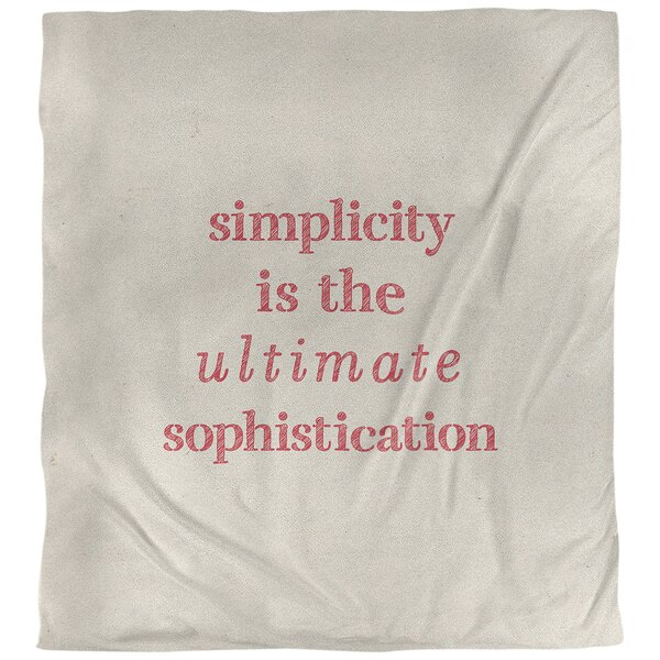 Quotes Handwritten Simple Sophisticated Single Reversible Duvet Cover