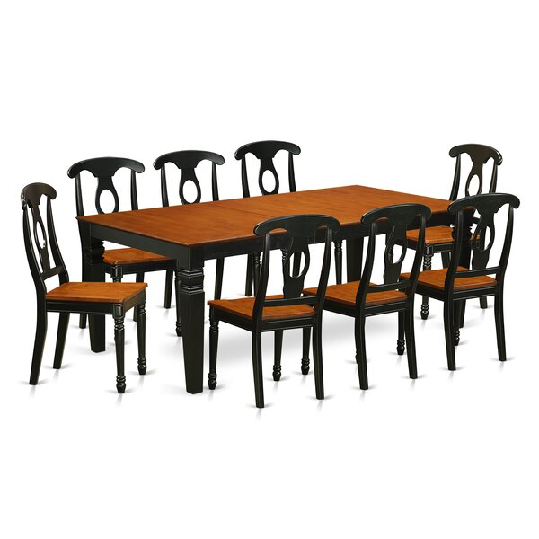 Darby Home Co Beesley 9 Piece Black/Cherry Dining Set | Wayfair