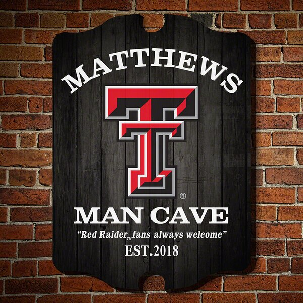 NCAA Man Cave Sign Wall Décor by Home Wet Bar
