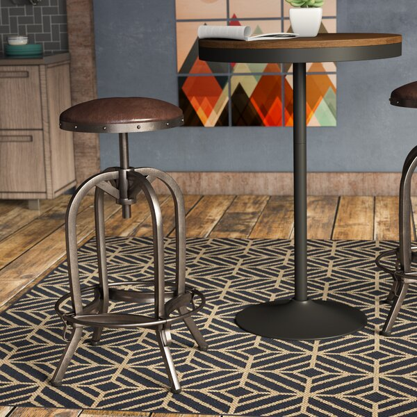 Mira Adjustable Height Swivel Bar Stool by Trent A