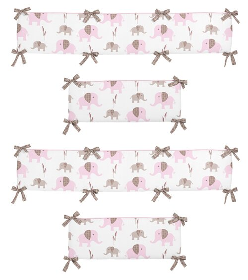 Mod Elephant Crib Bumper by Sweet Jojo Designs