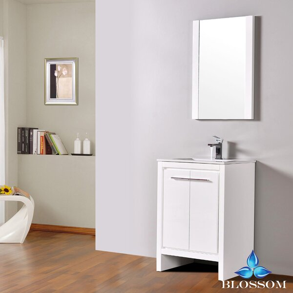 Artemis Modern 23 Single Bathroom Vanity Set with Mirror by Ivy BronxArtemis Modern 23 Single Bathroom Vanity Set with Mirror by Ivy Bronx