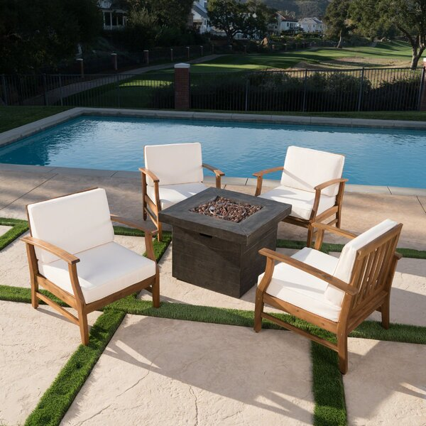 Karp 5 Piece Multiple Chairs Seating Group with Cushions by Alcott Hill