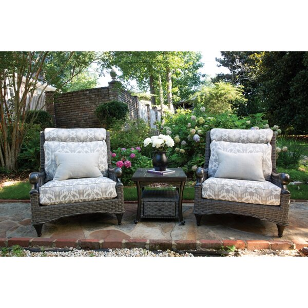 Guidi 3 Piece Seating Group with Sunbrella Cushions