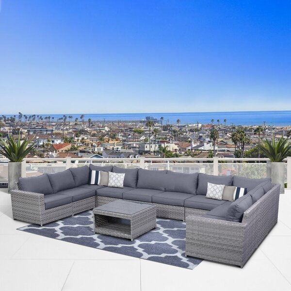 Kordell 11 Piece Sectional Seating Group with Cushions by Sol 72 Outdoor