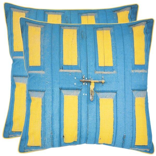 Nador Cotton Throw Pillow (Set of 2) by Safavieh