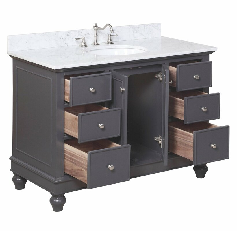 "Bathroom Vanities Nashville Tn kbc bella 48"" single bathroom vanity set & reviews 