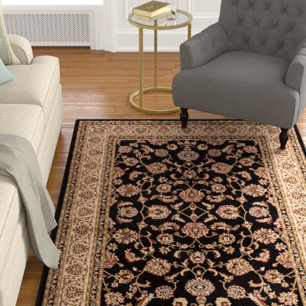 Belliere Border Black Area Rug by Astoria Grand