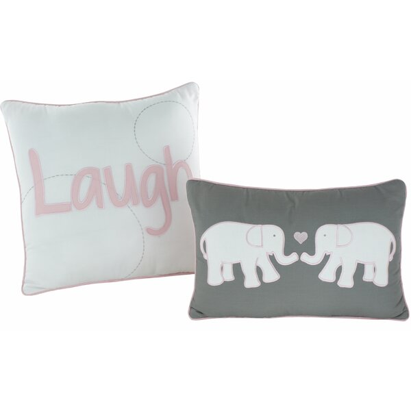 Pink Parade 2 Piece Decorative Synthetic Pillow Set by VCNY