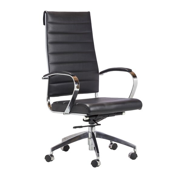 Charles Leather Office Chair by Orren Ellis