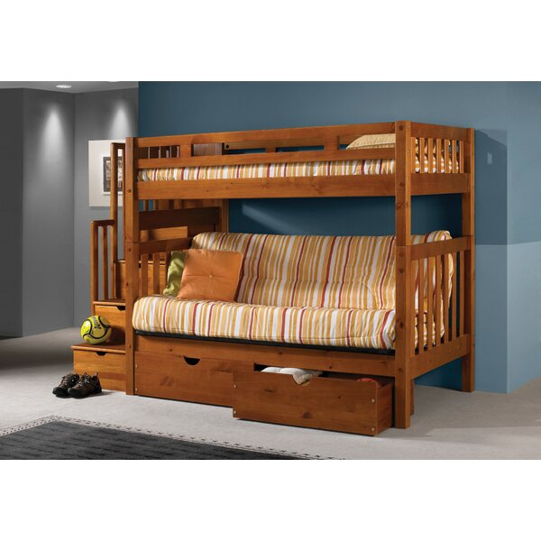 Langley Futon Bunk Bed with Drawers by Harriet Bee