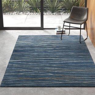 Modern Blue Wool Area Rugs Allmodern