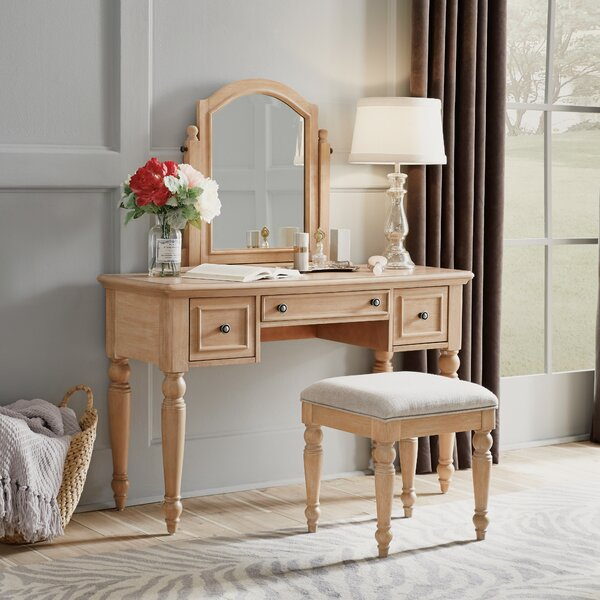 Jerkins Vanity Set With Mirror by Alcott Hill