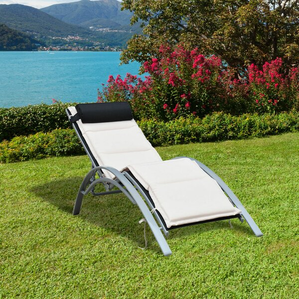 Shafer Reclining Chaise Lounge with Cushion by Freeport Park Freeport Park