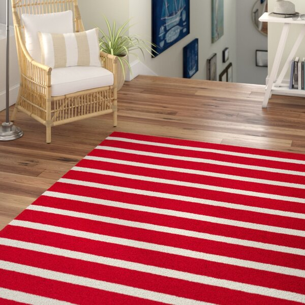 Lyndon Hand-Tufted Red Indoor/Outdoor Area Rug by Beachcrest Home