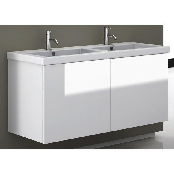 Jaylin 47 Double Bathroom Vanity Set with Mirror