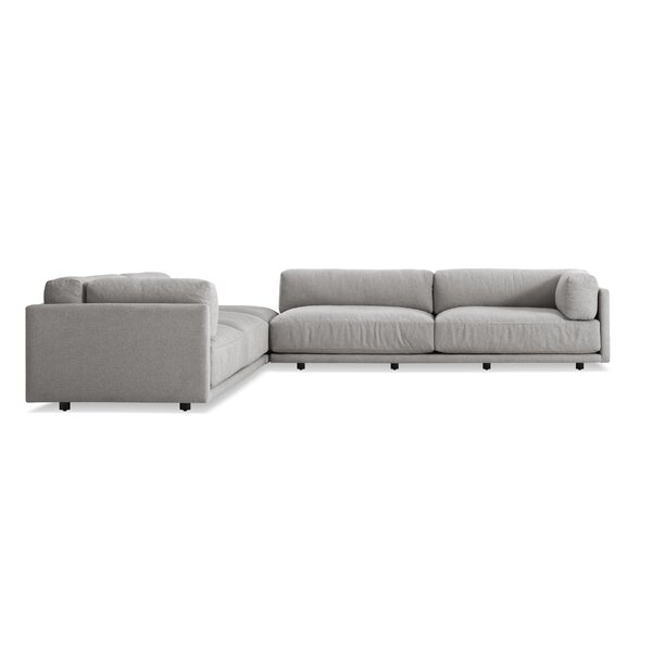 Sunday Backless L Sectional Sofa by Blu Dot