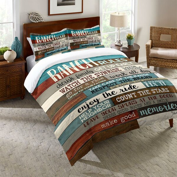 Vidrio Ranch Rules Comforter by Millwood Pines