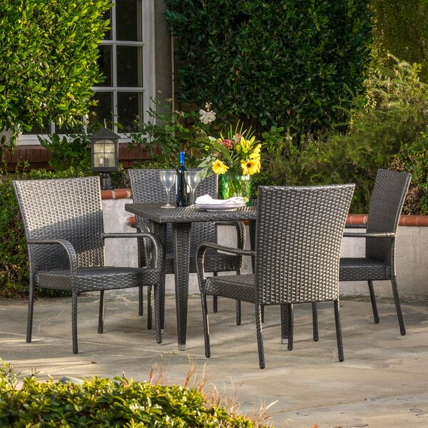 Gunning Outdoor 5 Piece Dining Set by Brayden Studio