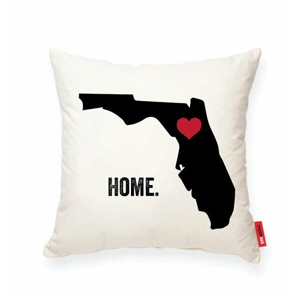 Pettry Florida Cotton Throw Pillow by Wrought Studio