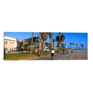 Panoramic 'Venice Beach, City of Los Angeles, California' Photographic Print on Canvas by iCanvas
