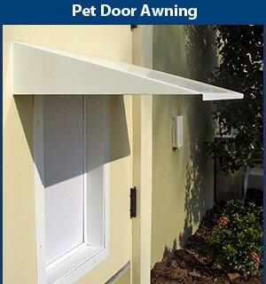 Universal Pet Door Awning by PlexiDor