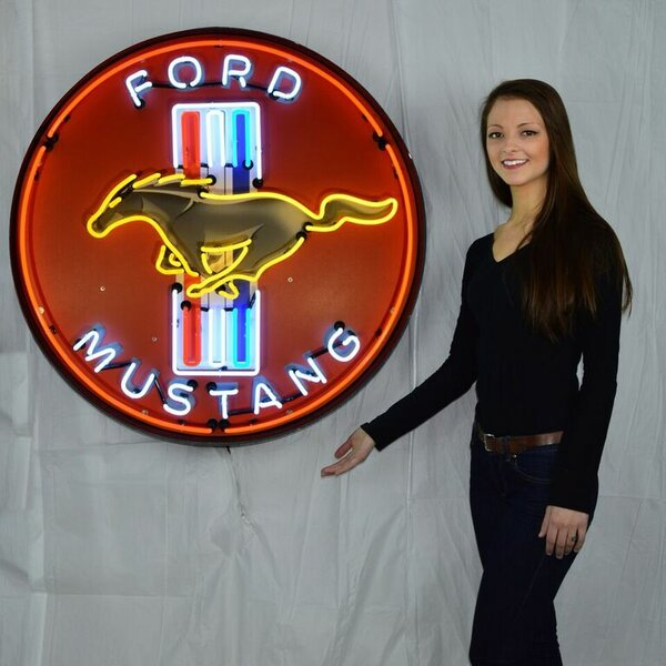 Ford Mustang Neon Sign by Neonetics