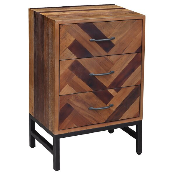 Jarvis Wooden 3 Drawer Nightstand by Foundry Select Foundry Select