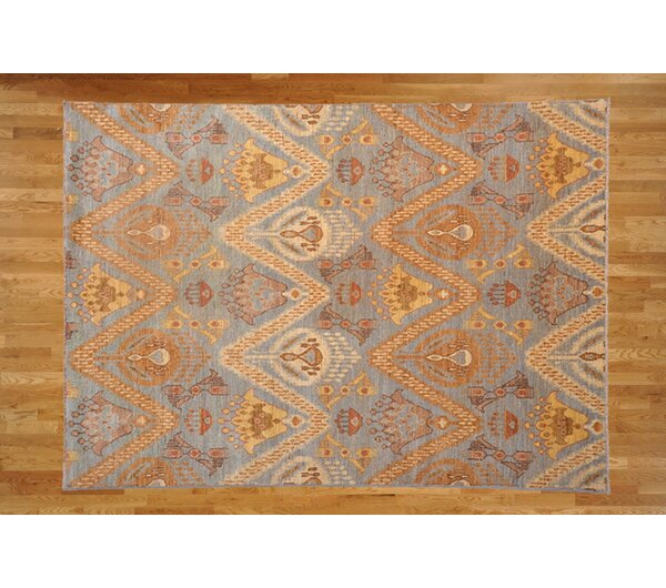 One-of-a-Kind Josephson Hand-Knotted Wool Light Yellow Area Rug by Canora Grey