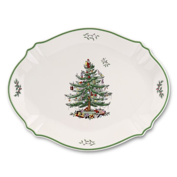 Christmas Tree Serve Platter by Spode
