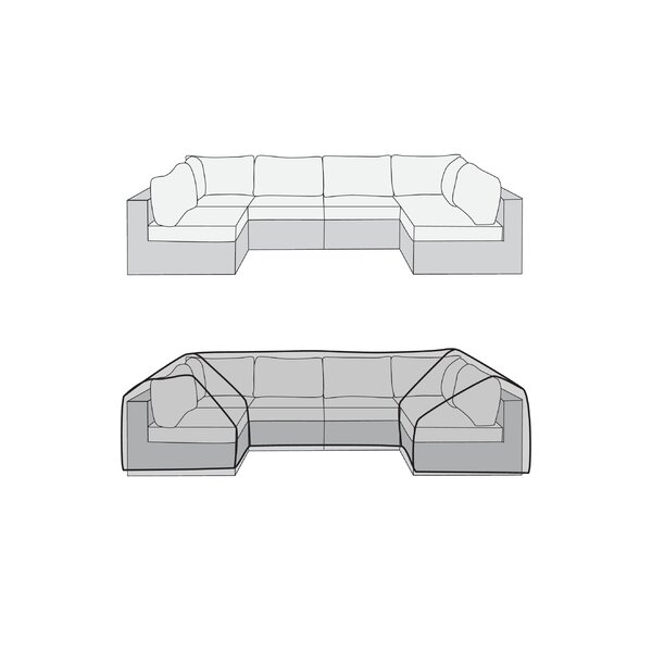 Ultimate Custom U-Shape Patio Sectional Cover by Symple Stuff
