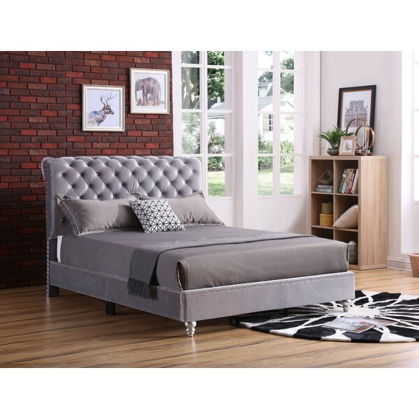 Loc Tufted Upholstered Standard Bed by Everly Quinn