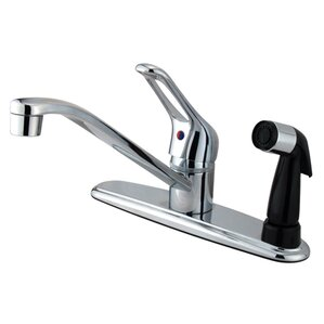 Kingston Brass Wyndham Single Handle Kitchen Faucet with Sprayer