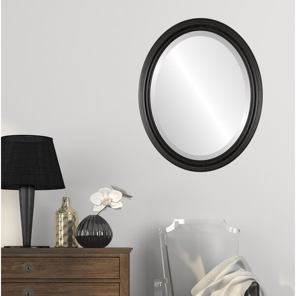 Worthing Framed Oval Accent Mirror by Charlton Home