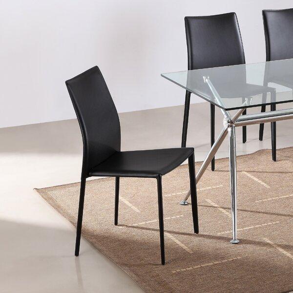 Caroline Stacking Patio Dining Chair with Cushion (Set of 4) by Orren Ellis Orren Ellis