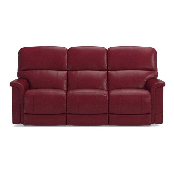 Holiday Shop Oscar Leather Power Full Reclining Sofa by La-Z-Boy by La-Z-Boy