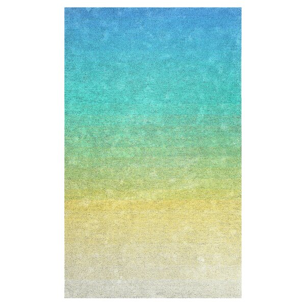 Faunce Hand-Tufted Green/Yellow Indoor/Outdoor Use Area Rug by Ebern Designs