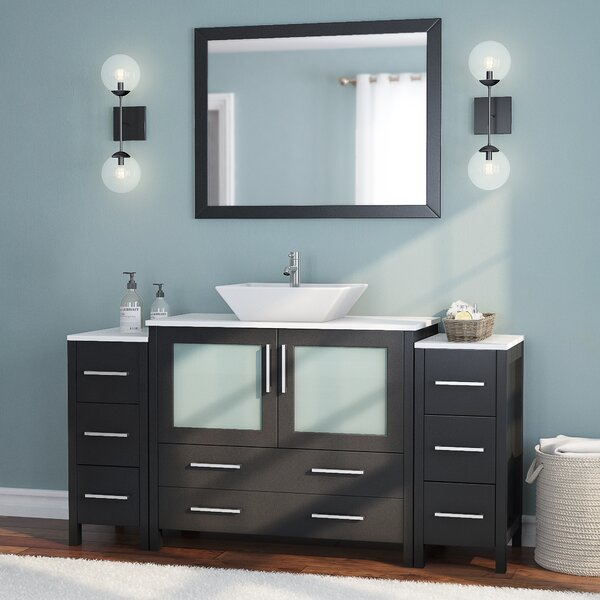 Karson 36 Single Bathroom Vanity Set with Mirror by Wade Logan