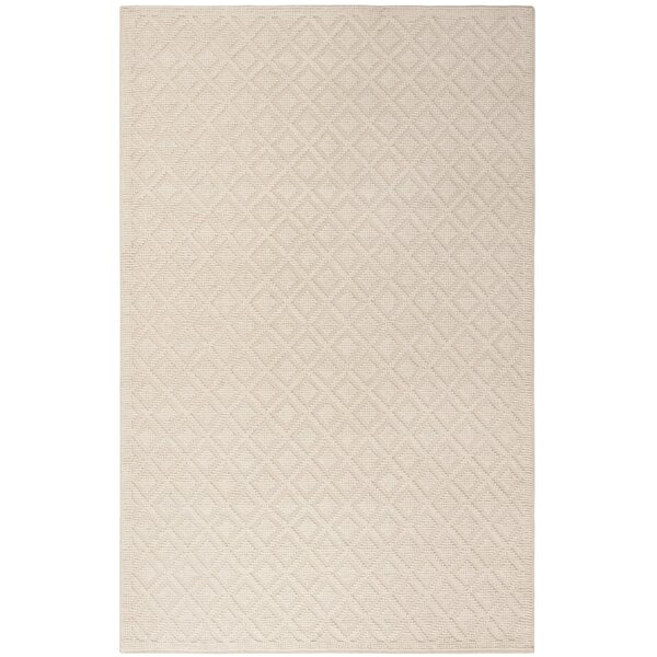 Matamoros Hand-Woven Wool Ivory Area Rug by Gracie Oaks