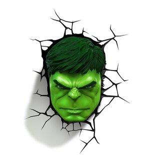 Price Check 3D Hulk Face Deco 2-Light Night Light By 3D Light FX