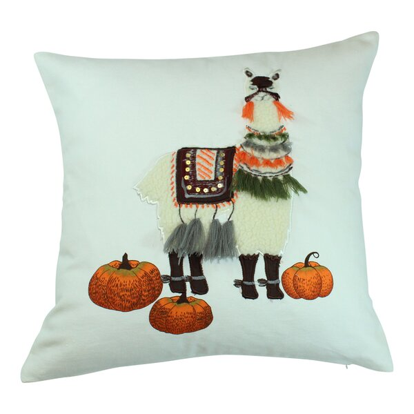 Christchurch Harvest Llama Cotton Throw Pillow by Ebern Designs
