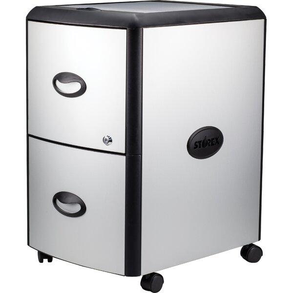 2-Drawer Mobile Vertical Filing Cabinet by Rebrilliant