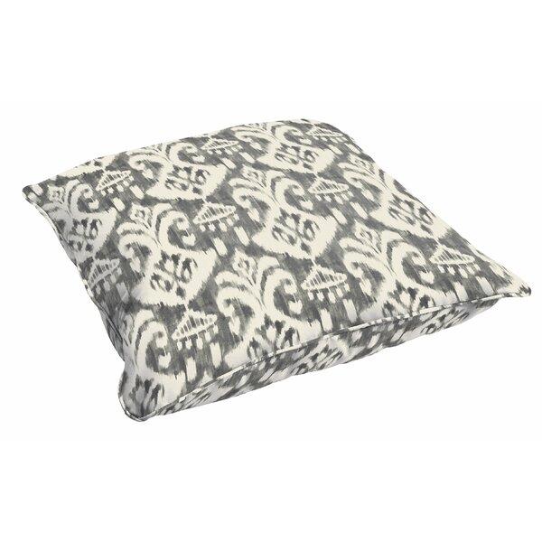 Peabody Ikat Outdoor Floor Pillow by Andover Mills