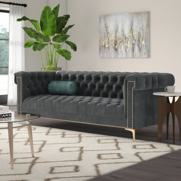 Batts Polyester Chesterfield Sofa by Mercer41