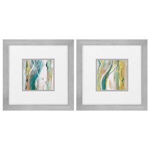 Coastal Bossa Nova 2 Piece Framed Painting Print Set by Propac Images