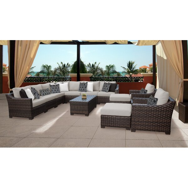 Kathy Ireland Homes & Gardens River Brook 13 Piece Sectional Seating Group by kathy ireland Homes & Gardens by TK Classics